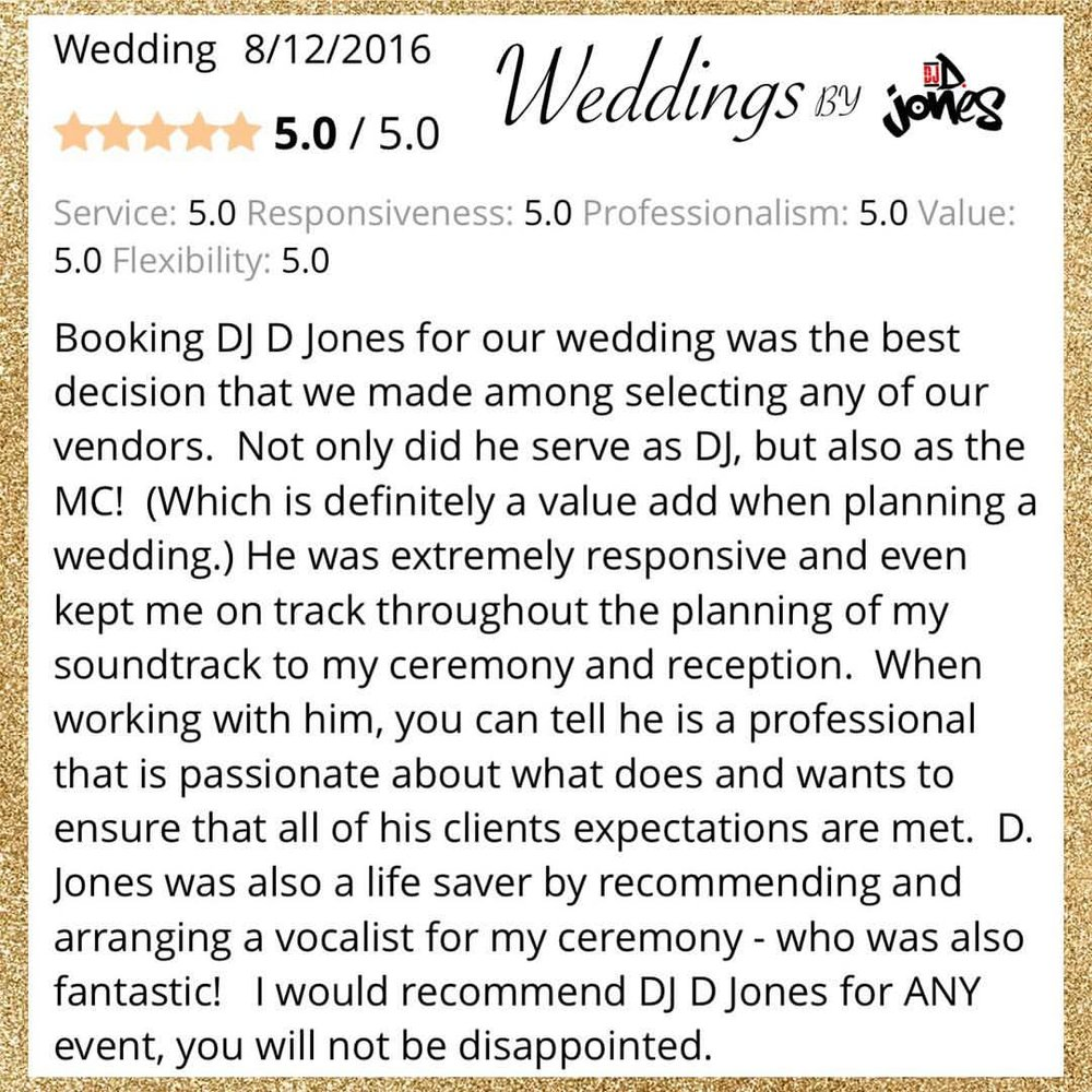 Weddings By DJ D Jones 2017 Reviews Chicago destination.jpg