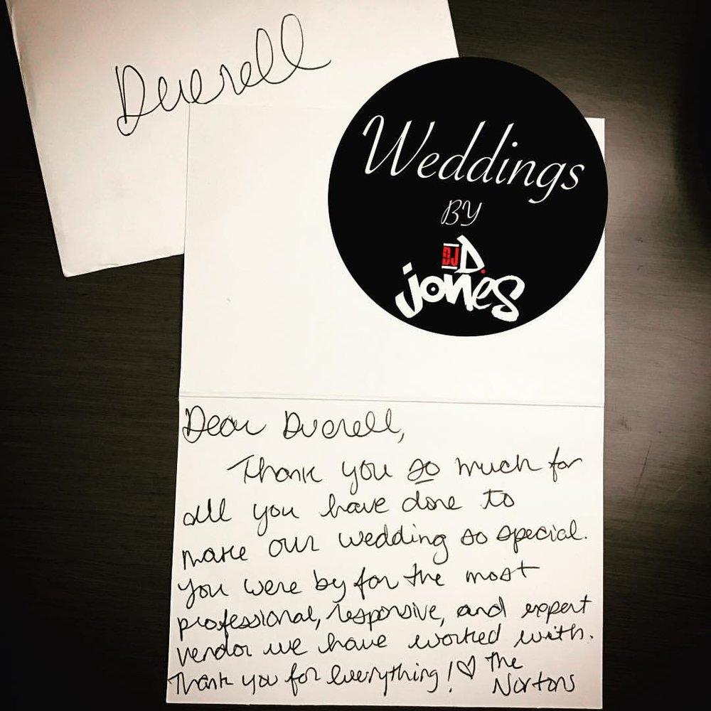 Weddings By DJ D Jones Hand written thank you bride groom.jpg