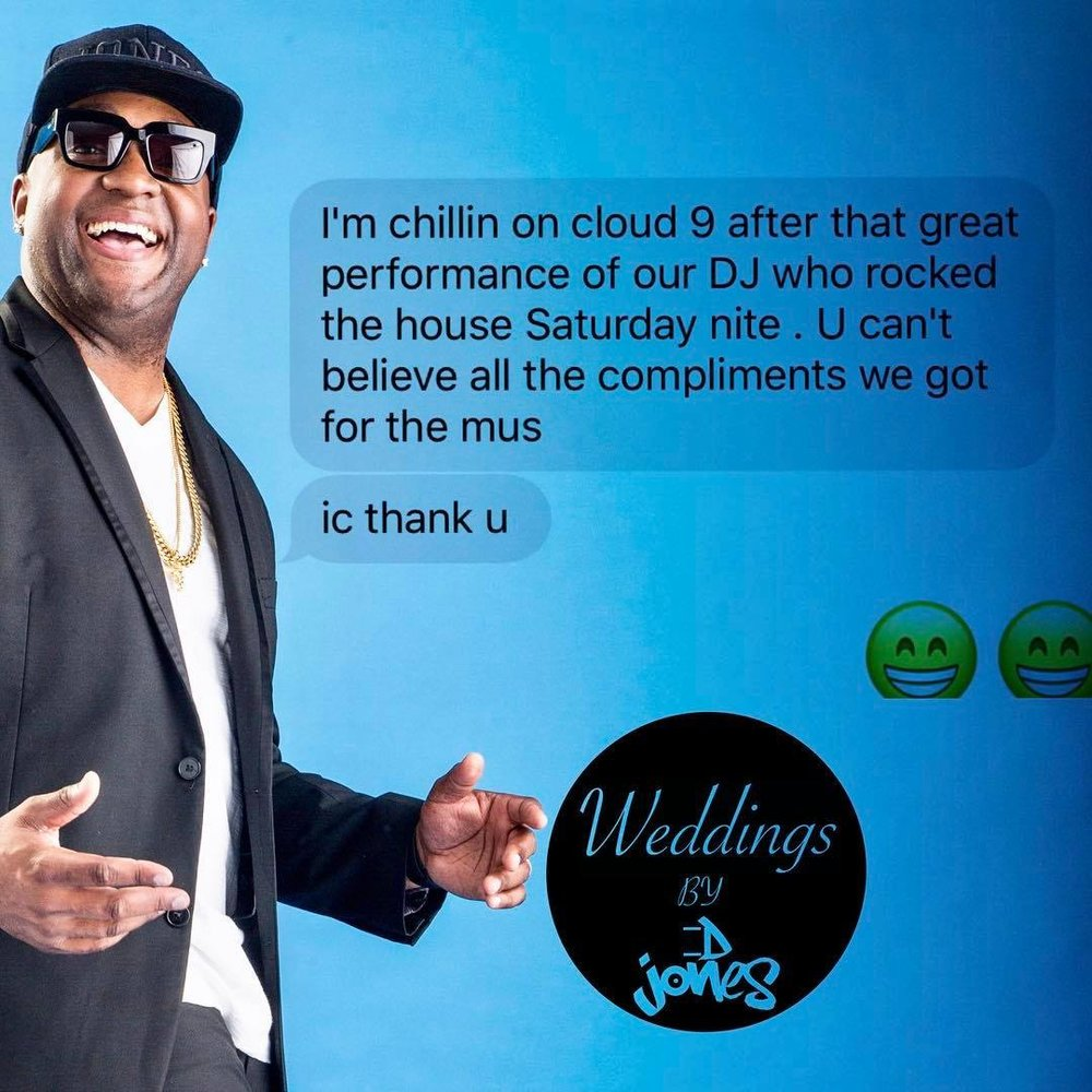 Weddings By DJ D Jones bride android iphone text message review.jpg