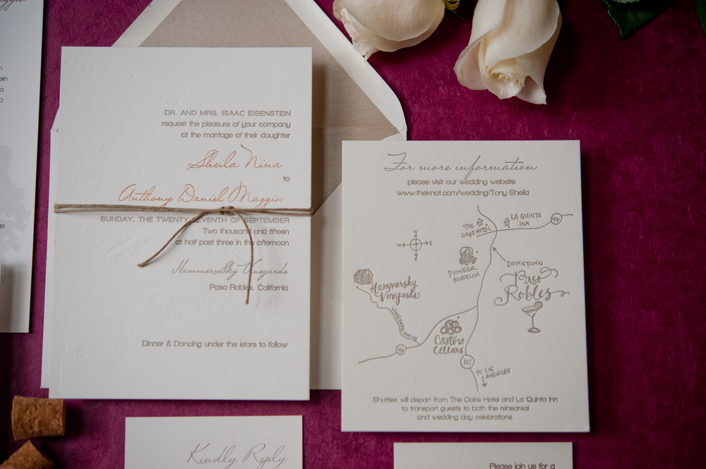 copperwillow.com | Vineyard Wedding Invitation Collection | Copper Willow Paper Studio | Paso Robles Wedding Invitations