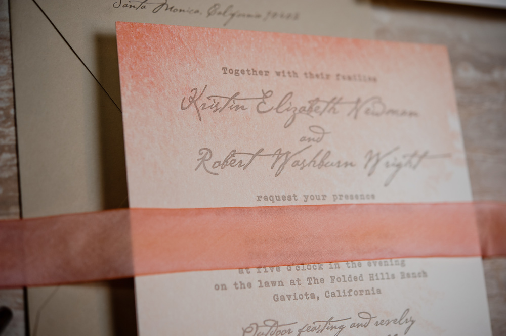 copperwillow.com | Watercolor Wedding Invitations | Oak Themed Stationery | Copper Willow Paper Studio | Pink and Brown Wedding Color Palette