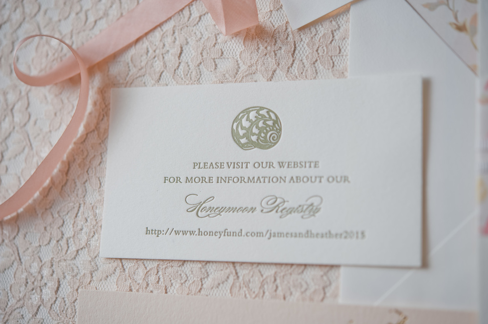 copperwillow.com | Blush Botanicals Wedding Invitation Collection | Copper Willow Paper Studio | Soft Pink and Ivory Wedding Details