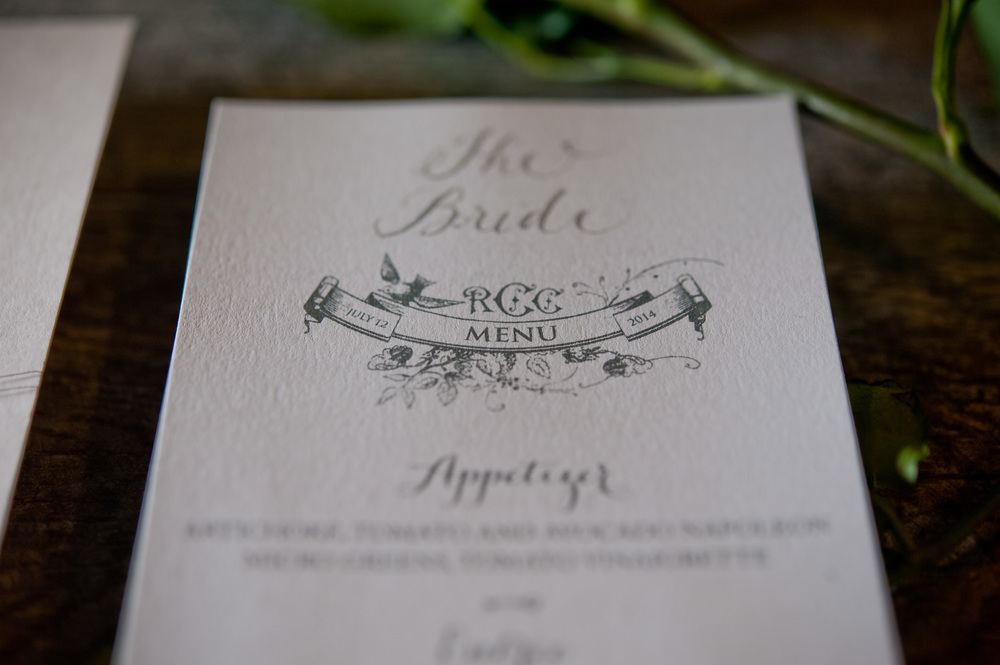 copperwillow.com | Rose Garden Themed Wedding Invitations | Copper Willow Paper Studio | Silver and Pink Wedding Stationery