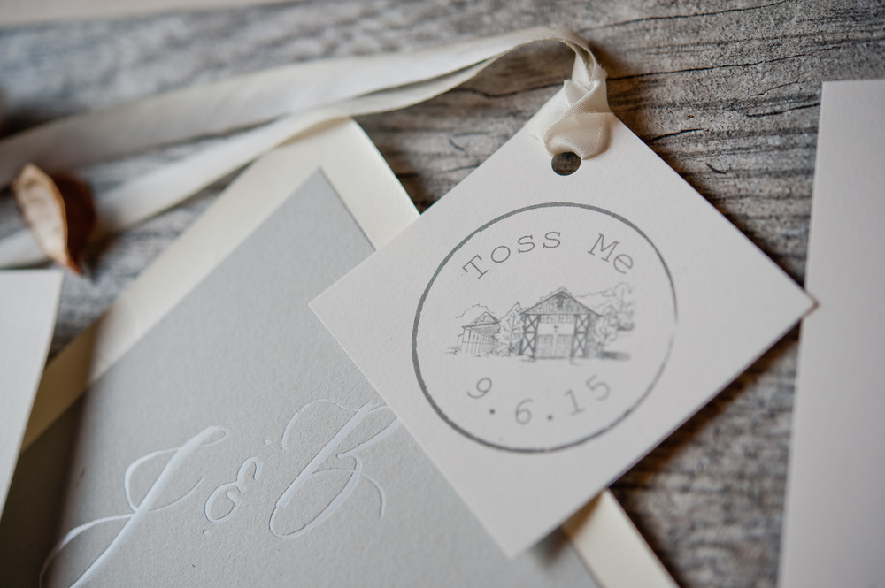 copperwillow.com | Barn Wedding Invitations | Copper Willow Paper Studio | Grey and White Wedding Stationery
