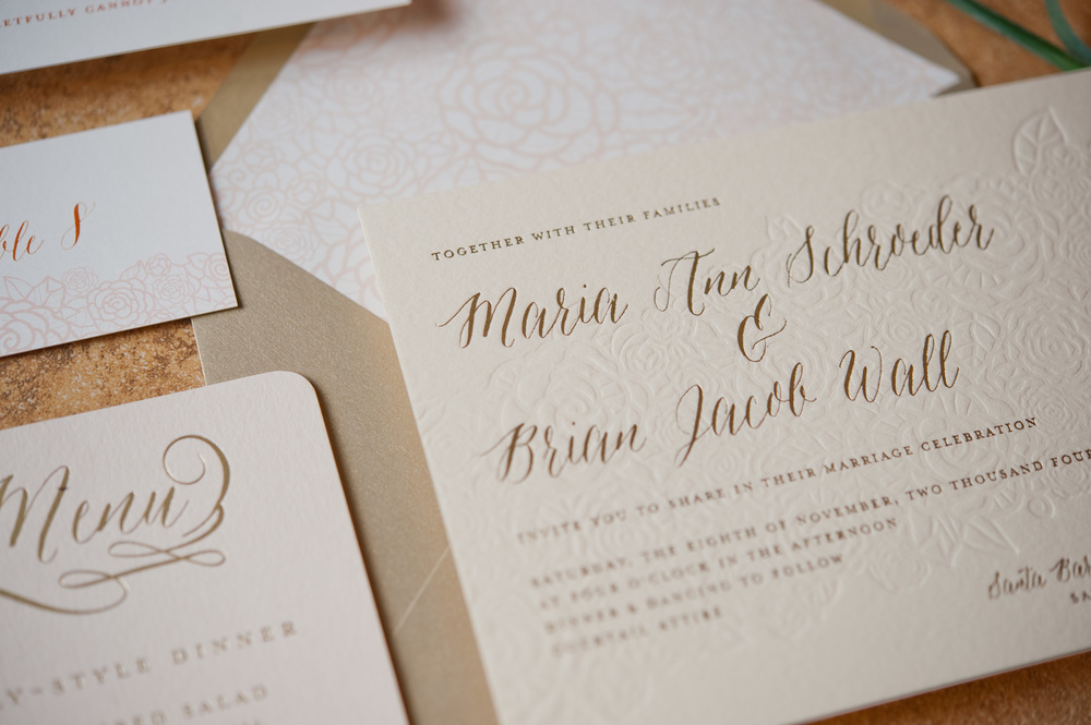 copperwillow.com | Red and White Floral Wedding Invitations with Gold Foil | Copper Willow Paper Studio