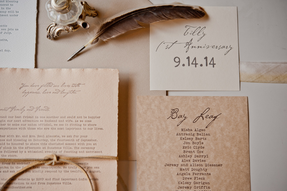 copperwillow.com | Love Letter Wedding Invitation | Vintage Invites | Copper Willow Paper Studio