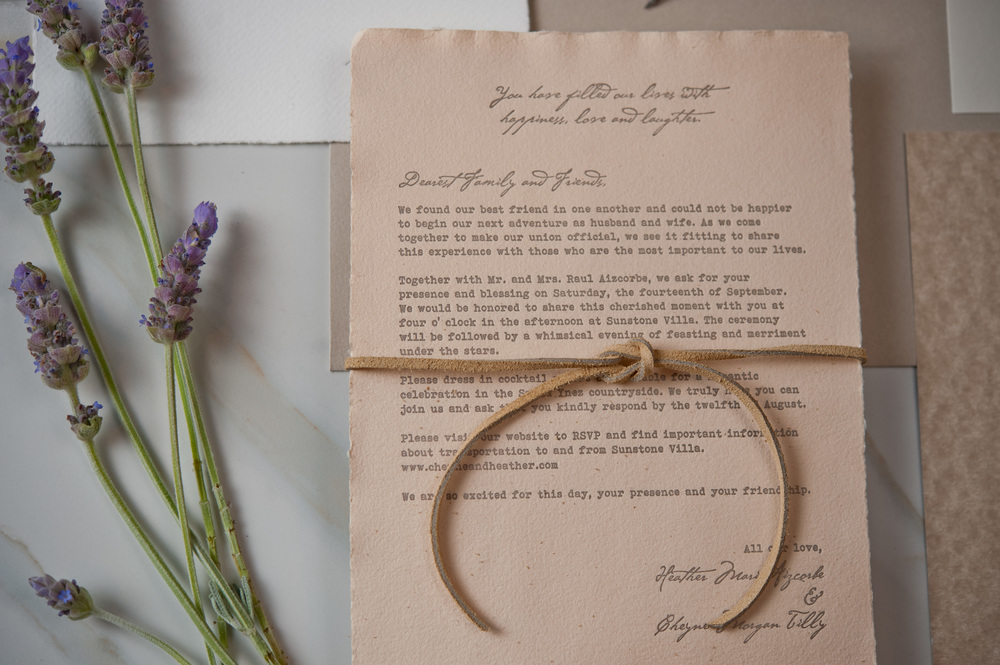 copperwillow.com | Sunstone Winery Wedding Invitations | Love Letter Wedding Invites | Copper Willow Paper Studio
