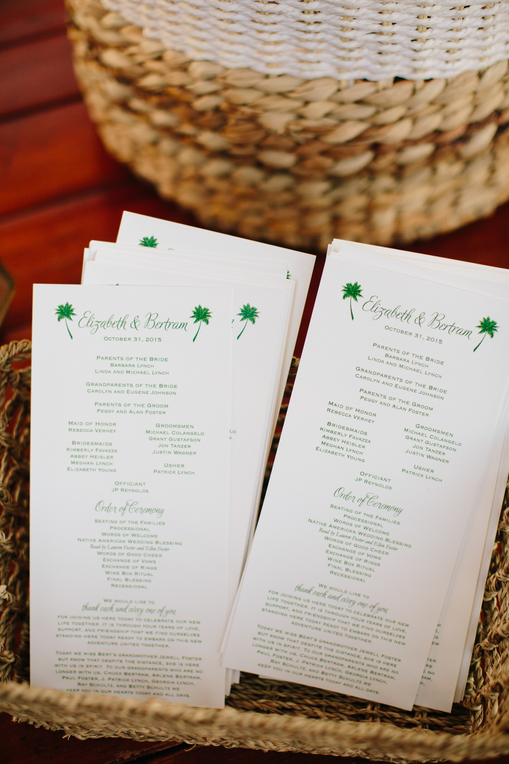 copperwillow.com | 100 Layer Cake classic Santa Barbara wedding feature | Green letterpress invitation