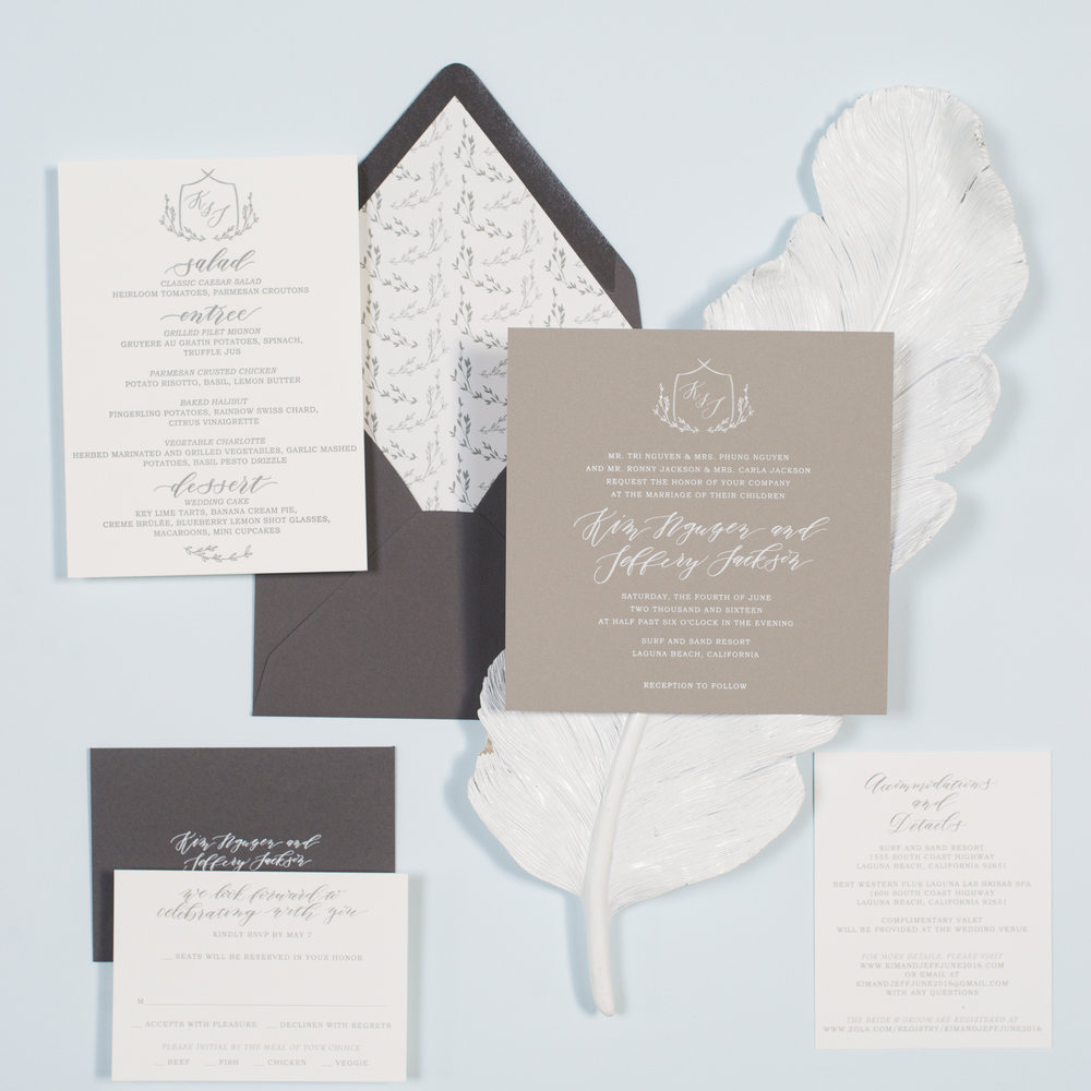 Wedding Invitations — Copper Willow Paper Studio