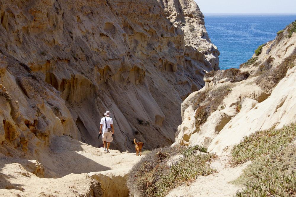 Crumbly sand makes the path a bit treacherous.