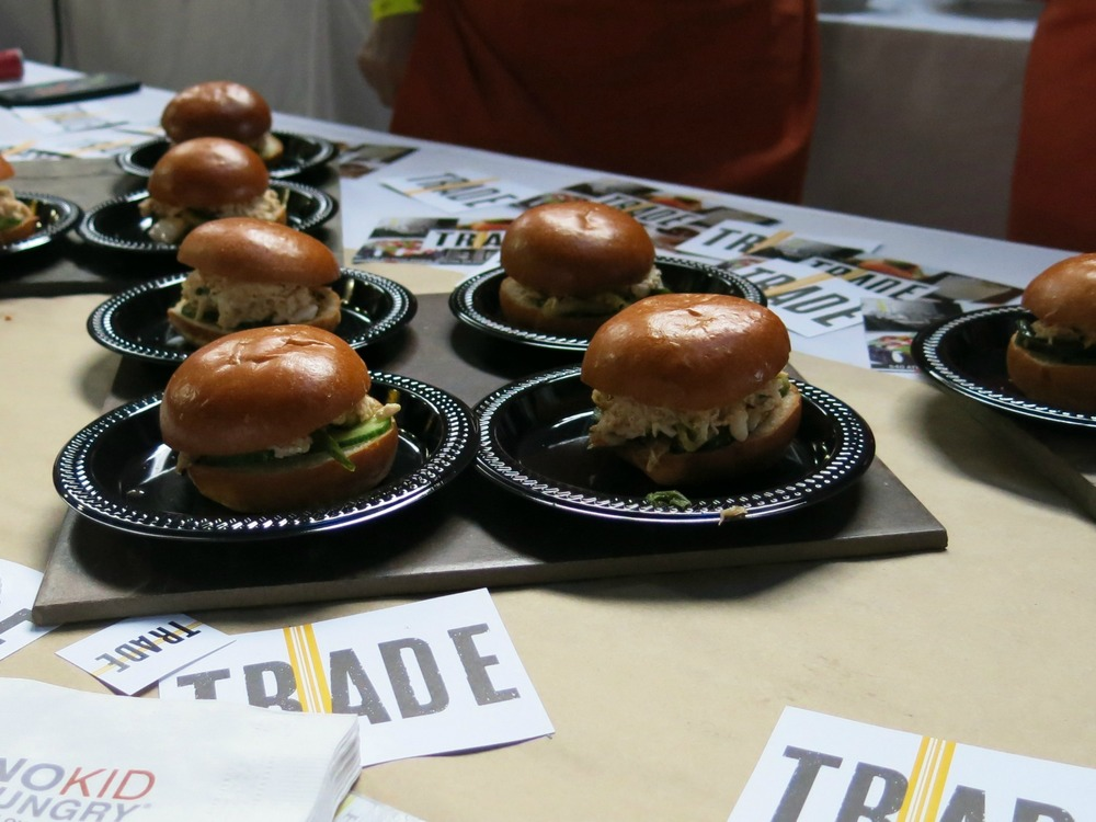 I was honored to meet and TRADE chat with chef Jody Adams. I was so busy gushing over her work, I neglected to jot down what was in these sliders. They were good, though!
