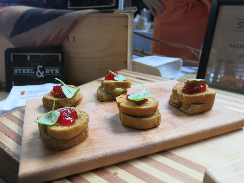 Mini grilled cheese sandwiches from Milton's Steel & Rye, which has long been on my list of places to visit.