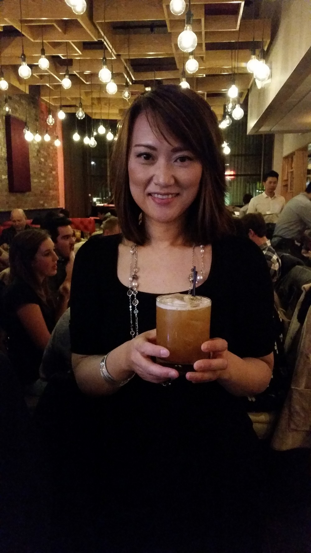 Yoko Miwa and her namesake cocktail.