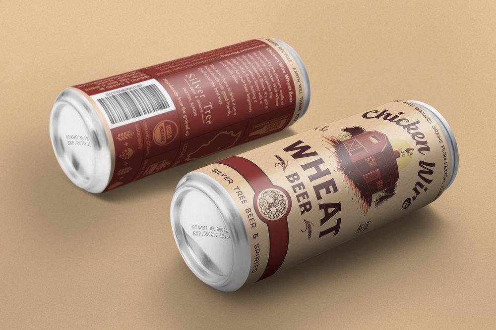 Chicken Wire Wheat Beer - Branding & Packaging
