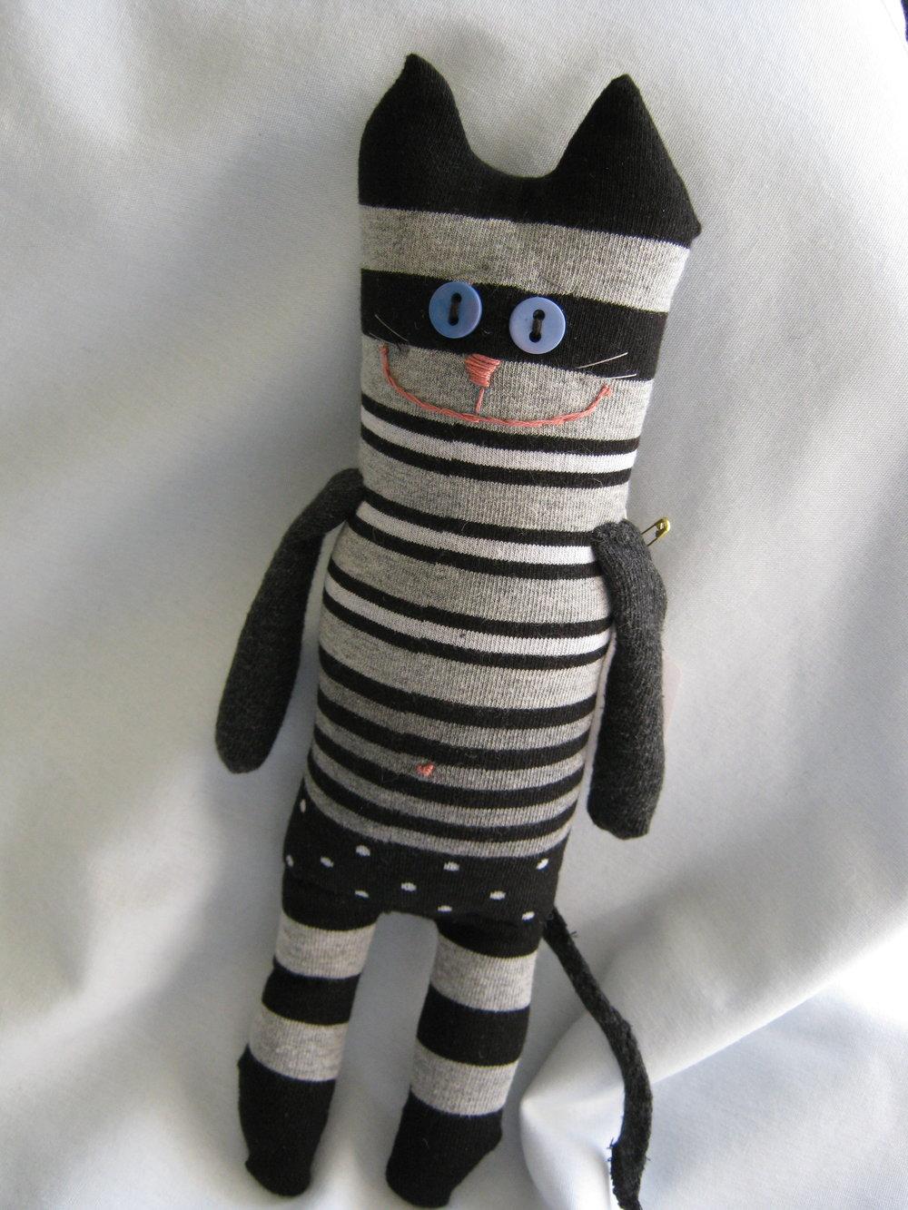 happy black stripe cat