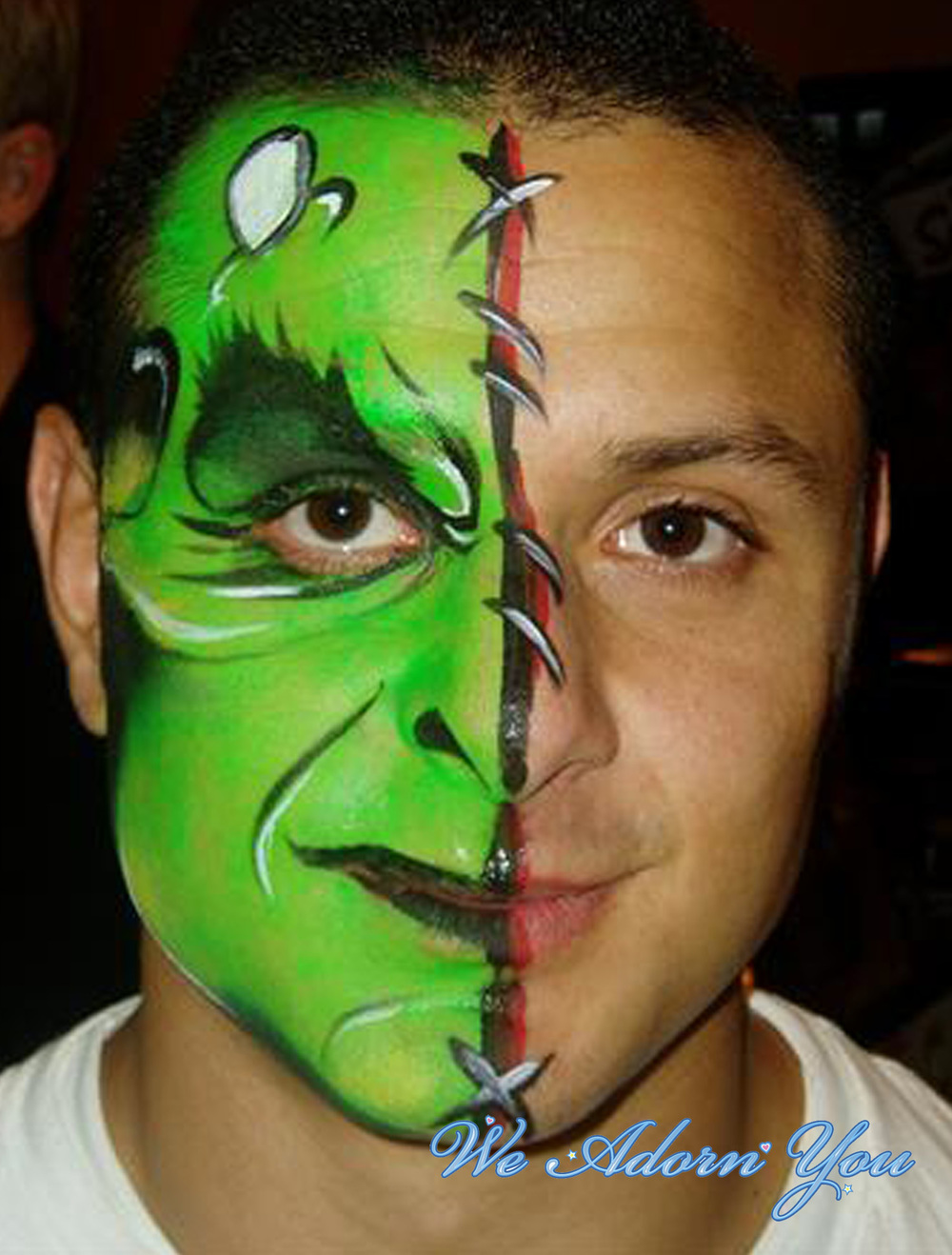 Face Painting Half Frakenstien- We Adorn You.jpg