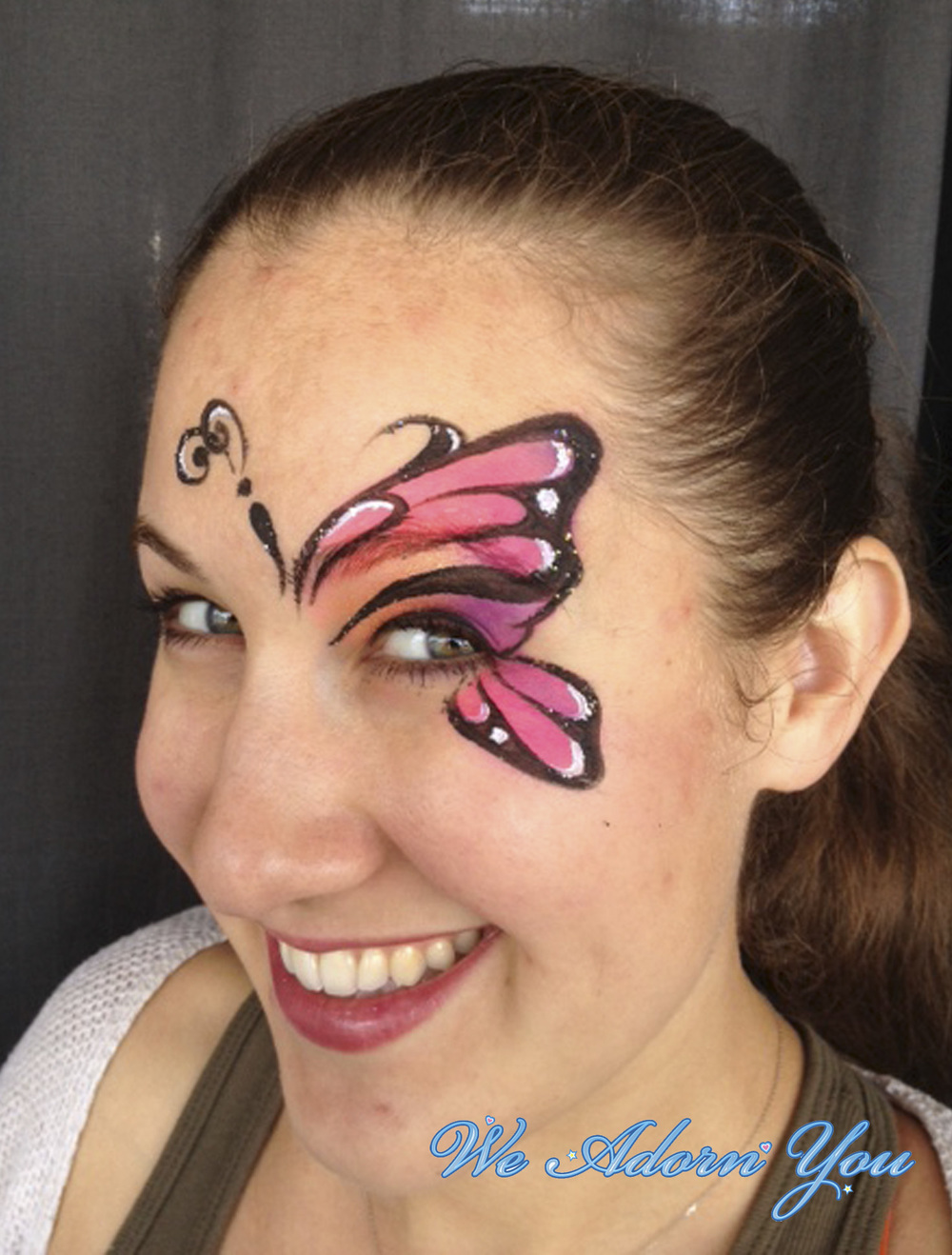 Face Painting Pink Butterfly - We Adorn You.jpg