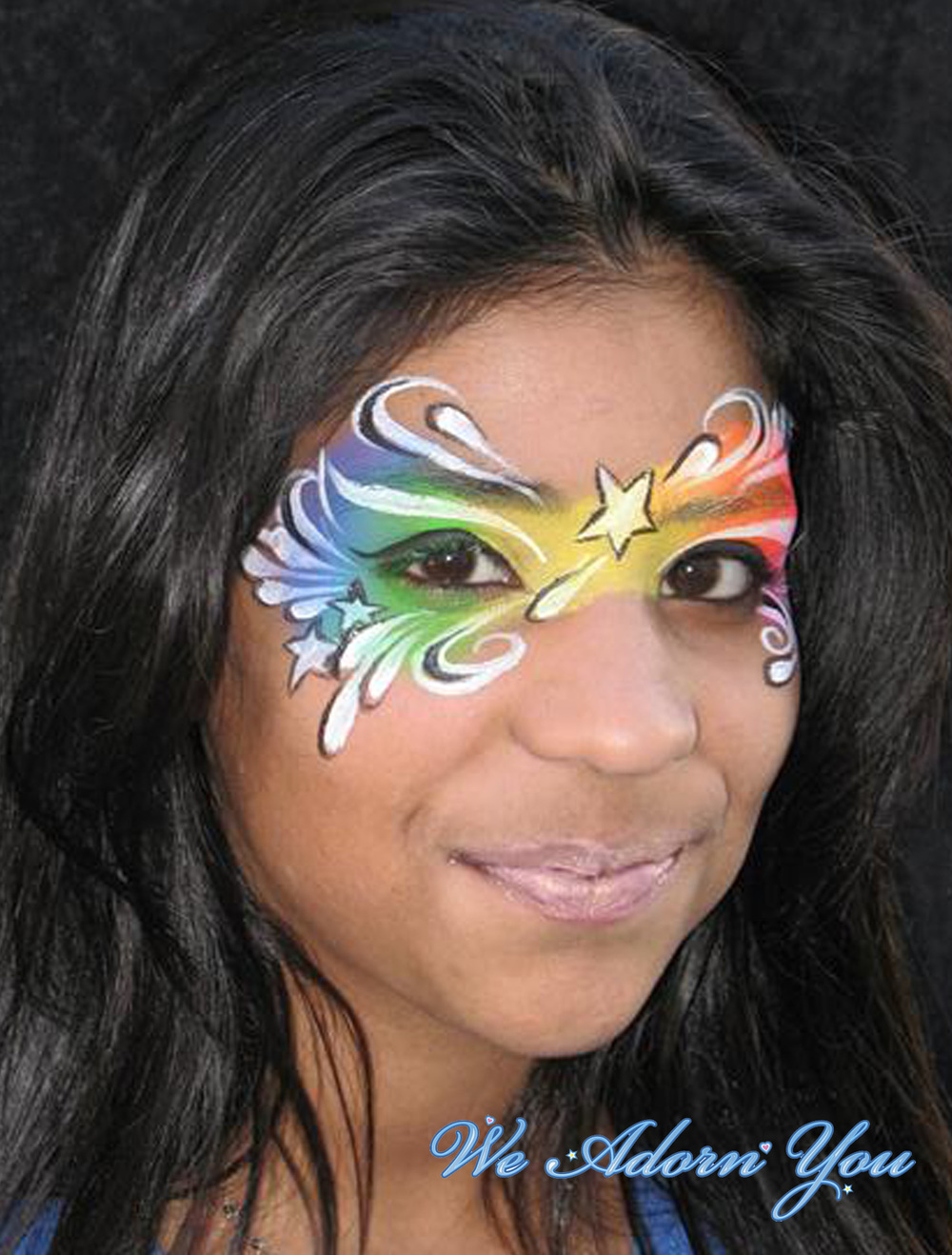 Face Painting rainbow mask- We Adorn You.jpg