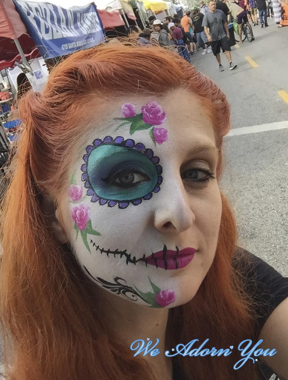 Face Painting Sugar Skull Half- We Adorn You.jpg