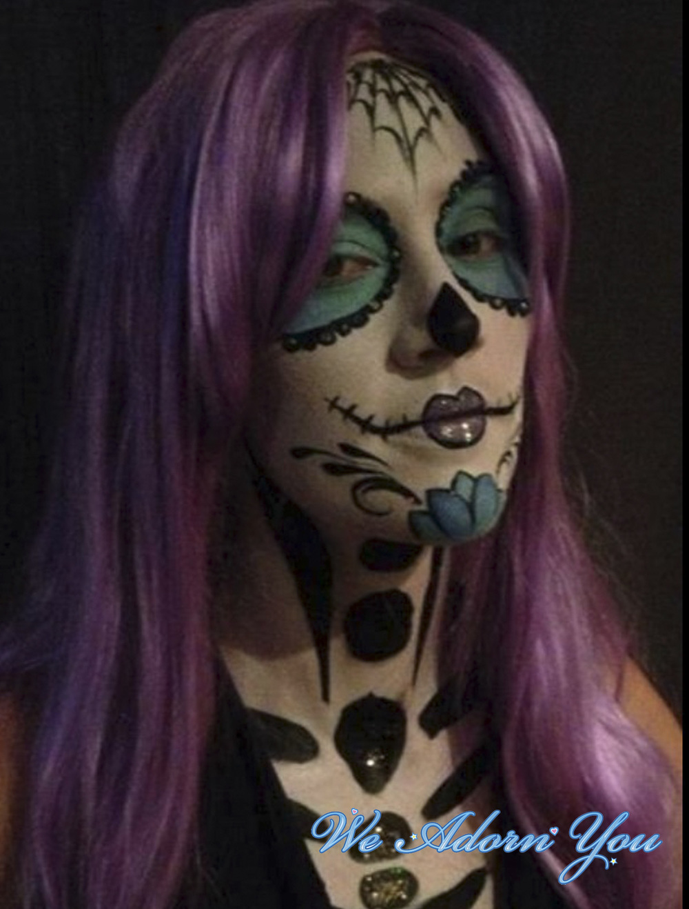 Face Painting Sugar Skull- We Adorn You.jpg