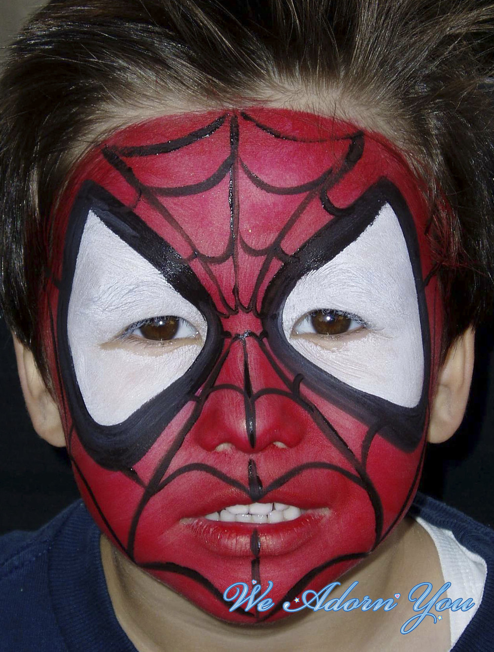 Face Painting Spiderman- We Adorn You.jpg