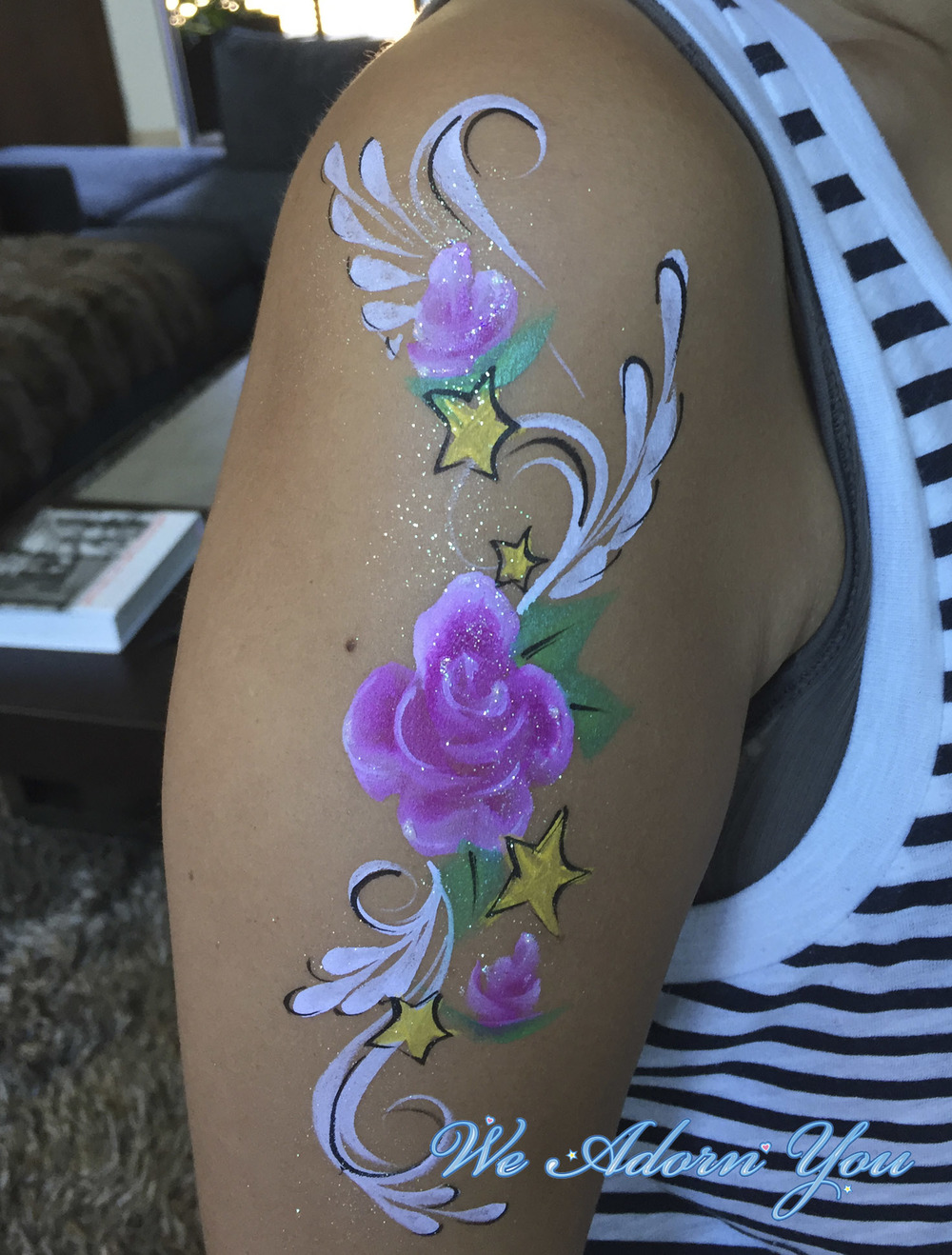Face Painting Floral Arm- We Adorn You.jpg
