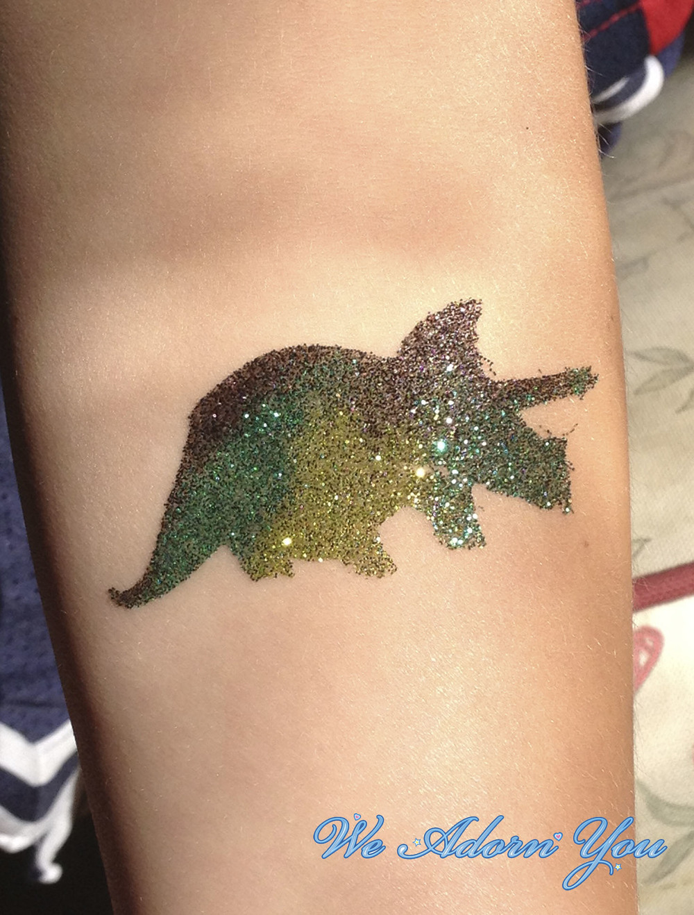 Glitter tattoos we adorn you for Where to get glitter tattoos