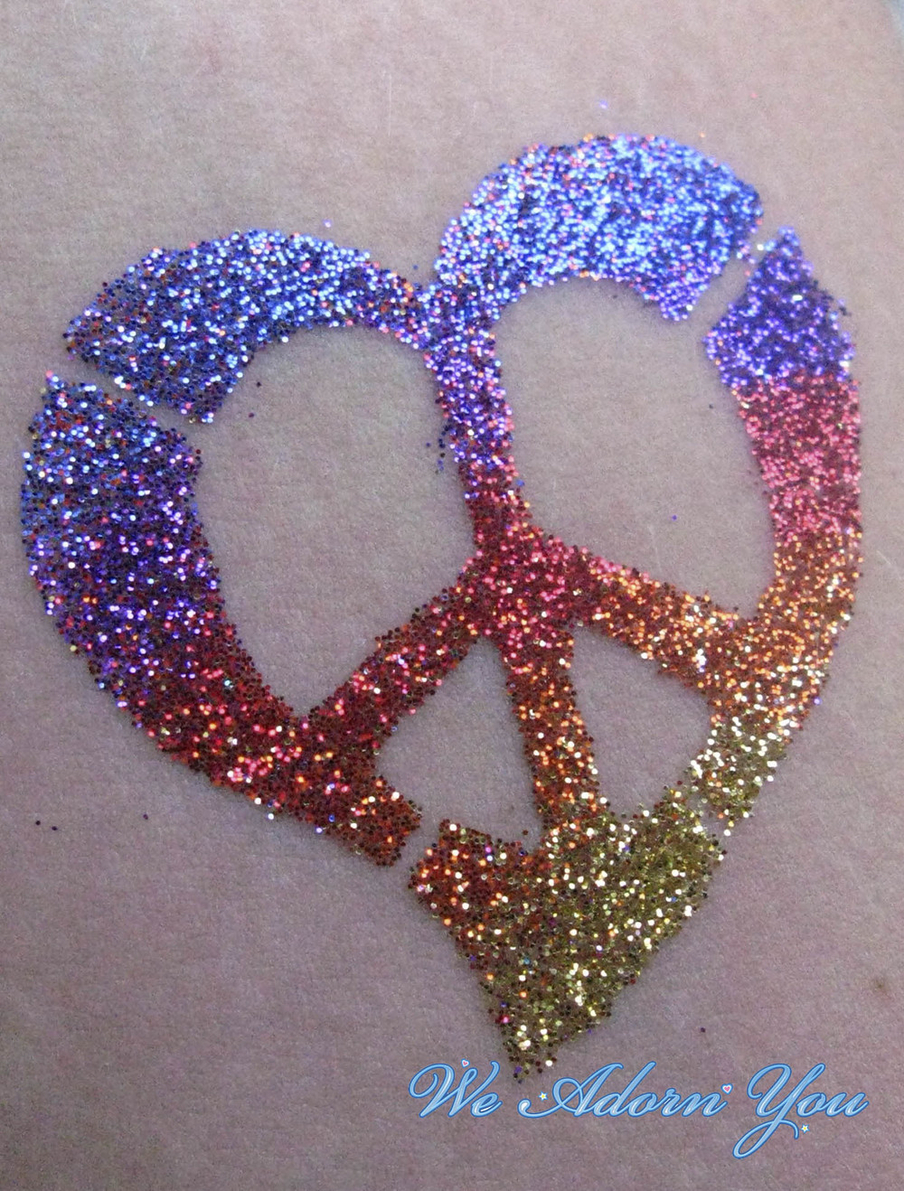 Glitter Tattoo Peace Heart- We Adorn You.jpg