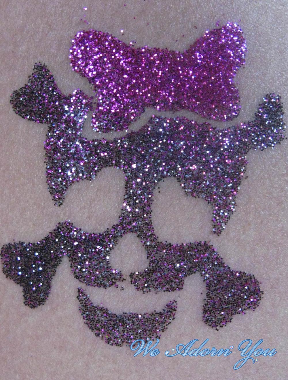 Glitter Tattoo Skull and Crossbones- We Adorn You.jpg