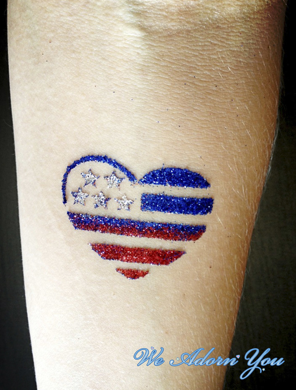 Glitter Tattoos Heart America - We Adorn You.jpg