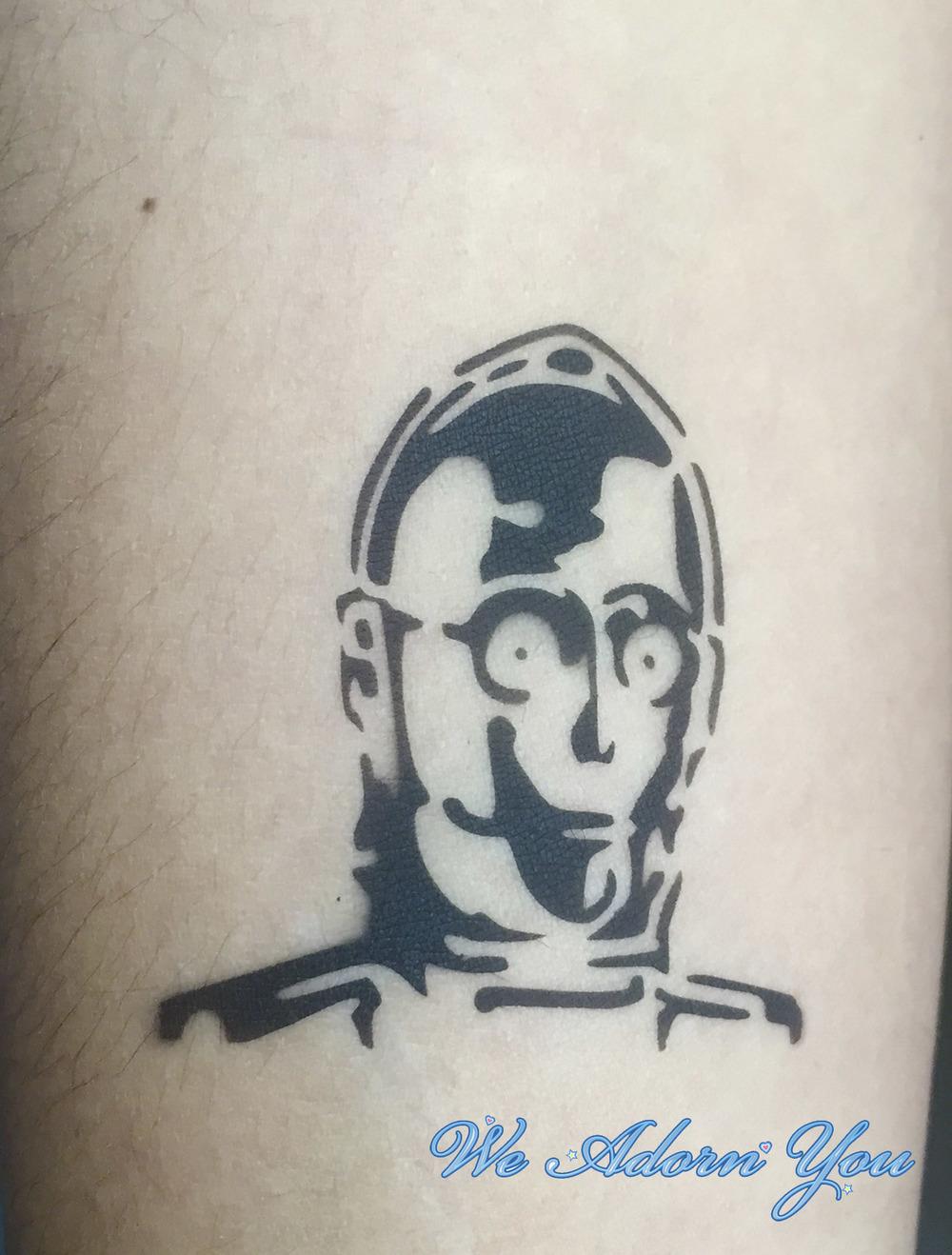 Airbrush Tattoo C3PO- We Adorn You.jpg