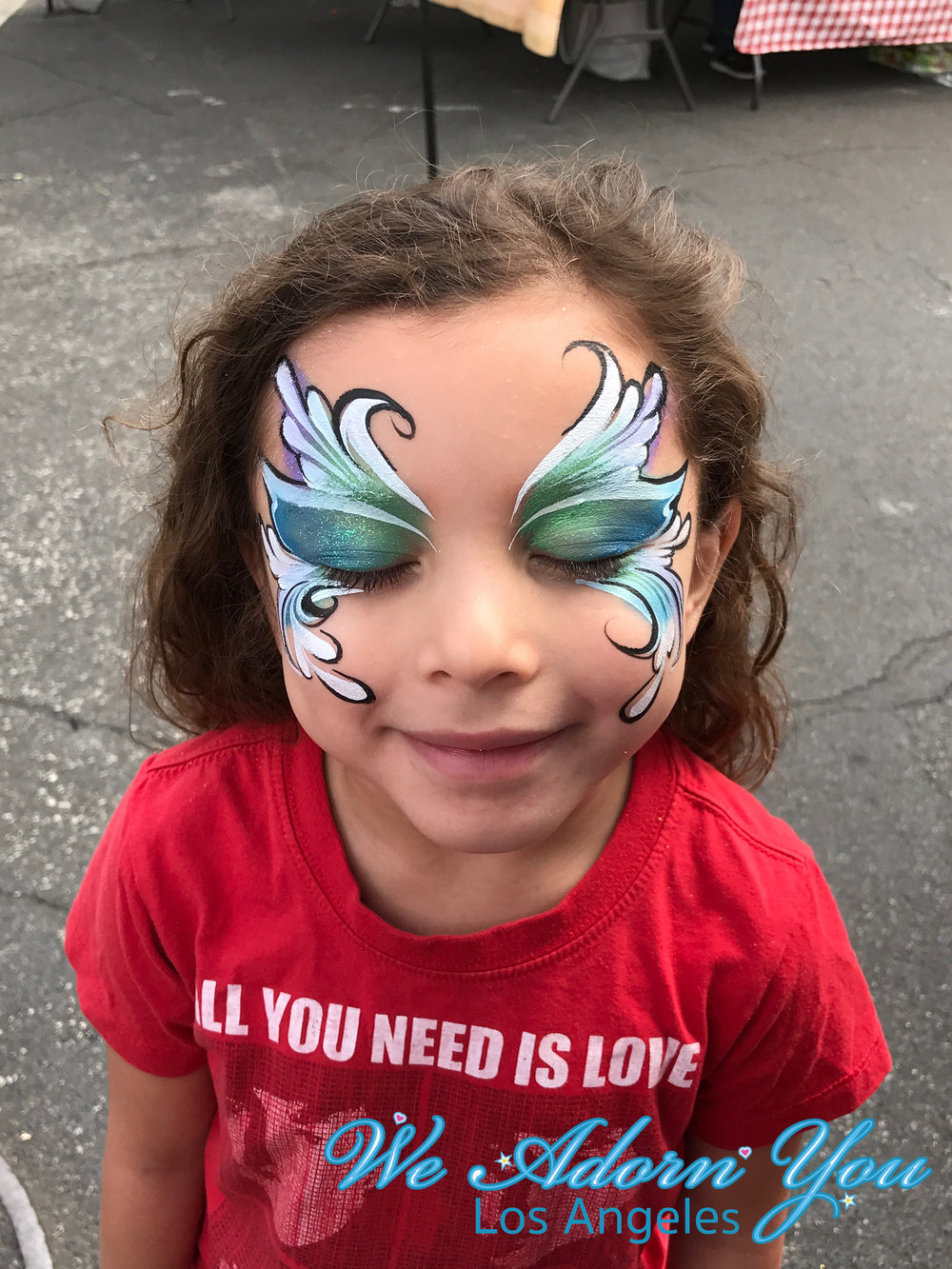 We Adorn You Los Angeles Face Painting Blue Design.jpg
