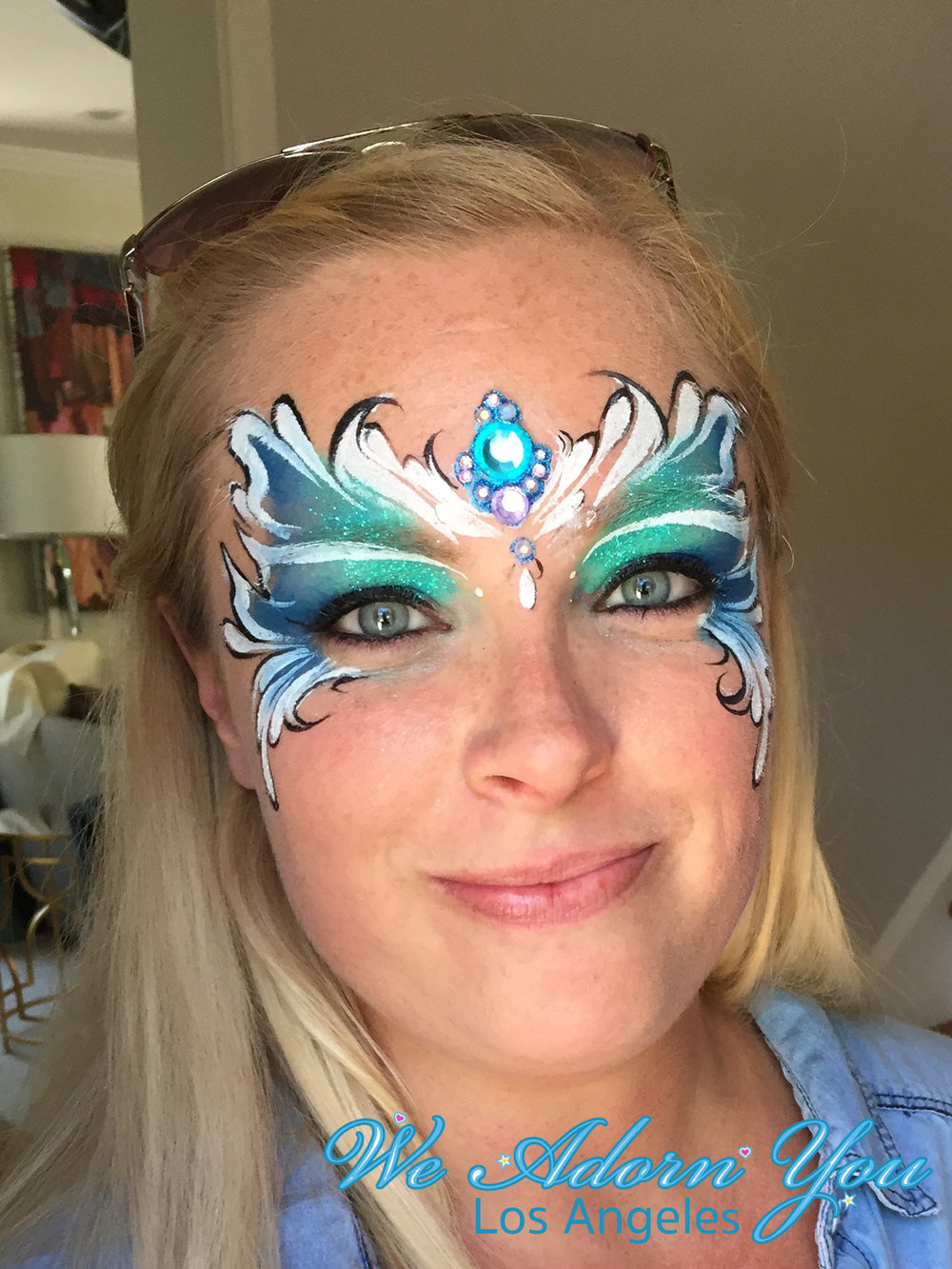 We Adorn You Los Angeles Face Painting Blue Gem.jpg