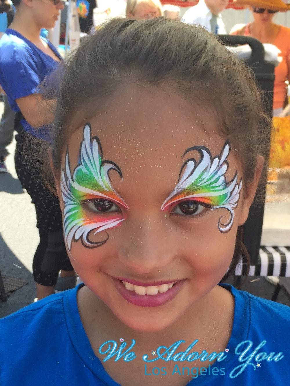 We Adorn You Los Angeles Face Painting Rainbow design.jpg