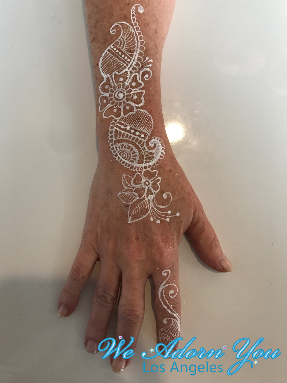 We Adorn You Los Angeles Color Henna White Flower 6.jpg
