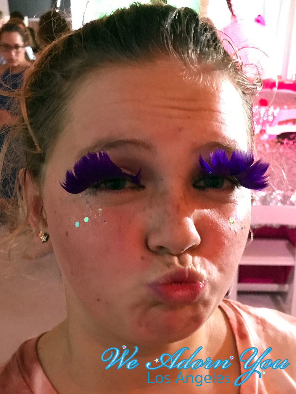 We Adorn You Los Angeles party eyelashes purple.jpg