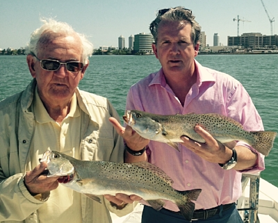 90 year old Warren and his son Greg, North Biscayne Bay.