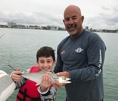 Miak with a Spanish Mackerel
