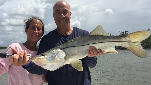 Ross and Mindy with a good Snook day
