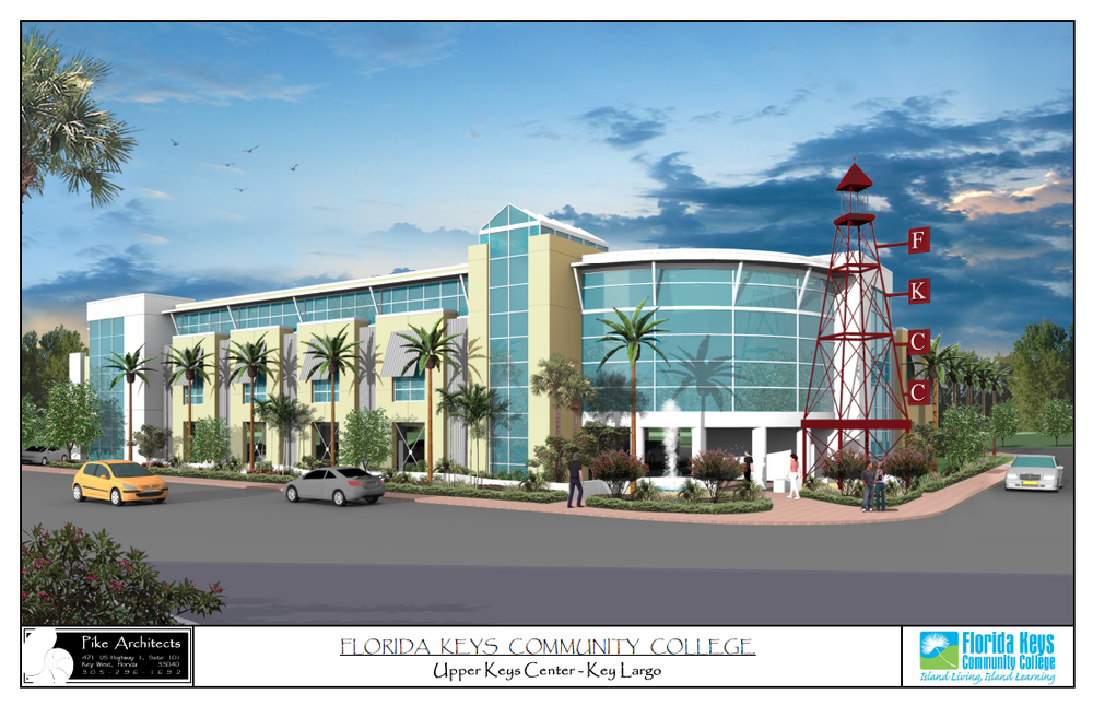 Rendering for proposed new college site
