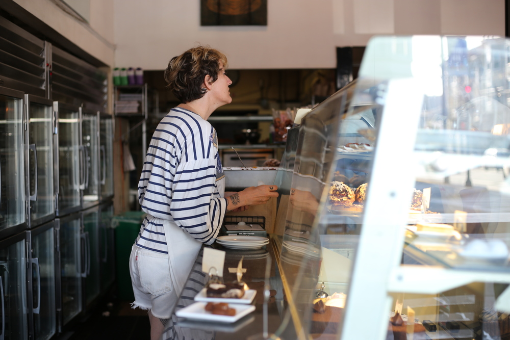 Tartine Bakery, bustling each and every day.