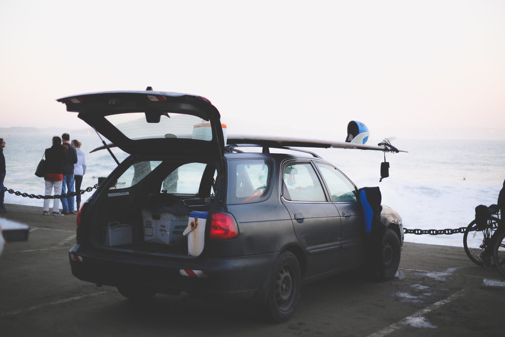Surfing at the Forte Point, below the Golden Gate Bridge? It happens, just not very often.