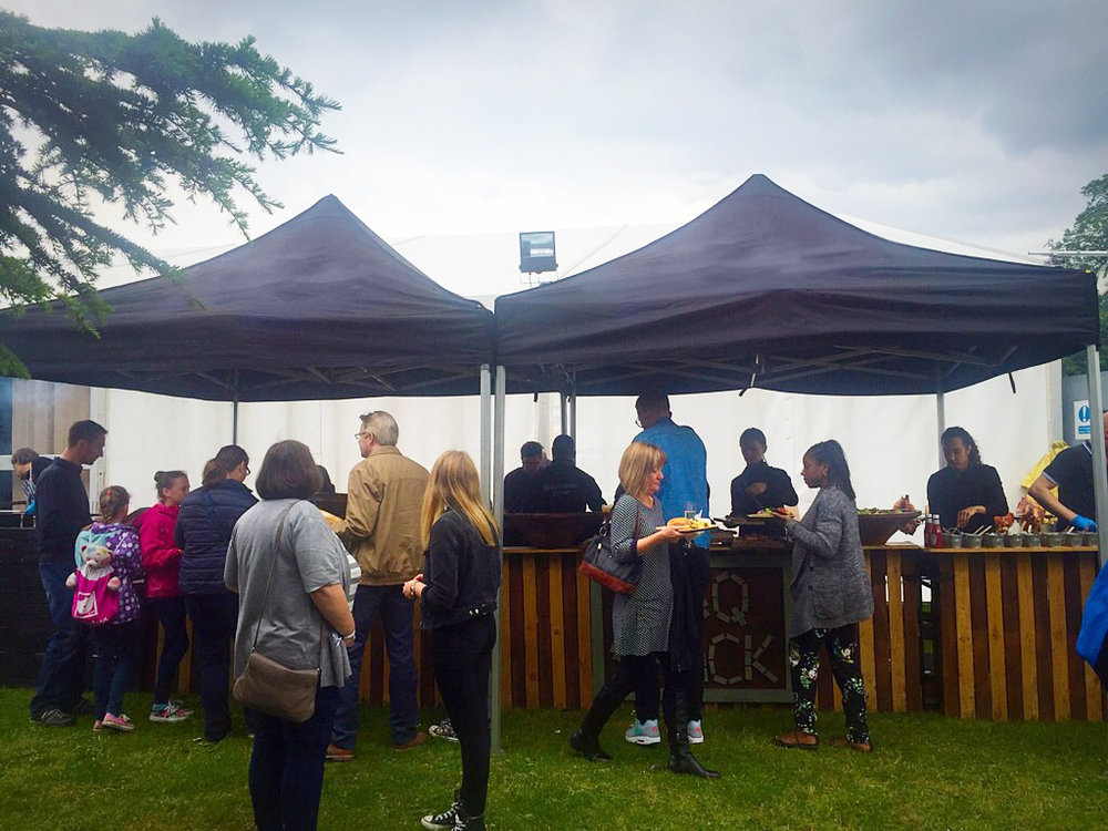 A Fabulous BBQ for 800 guests in a London park
