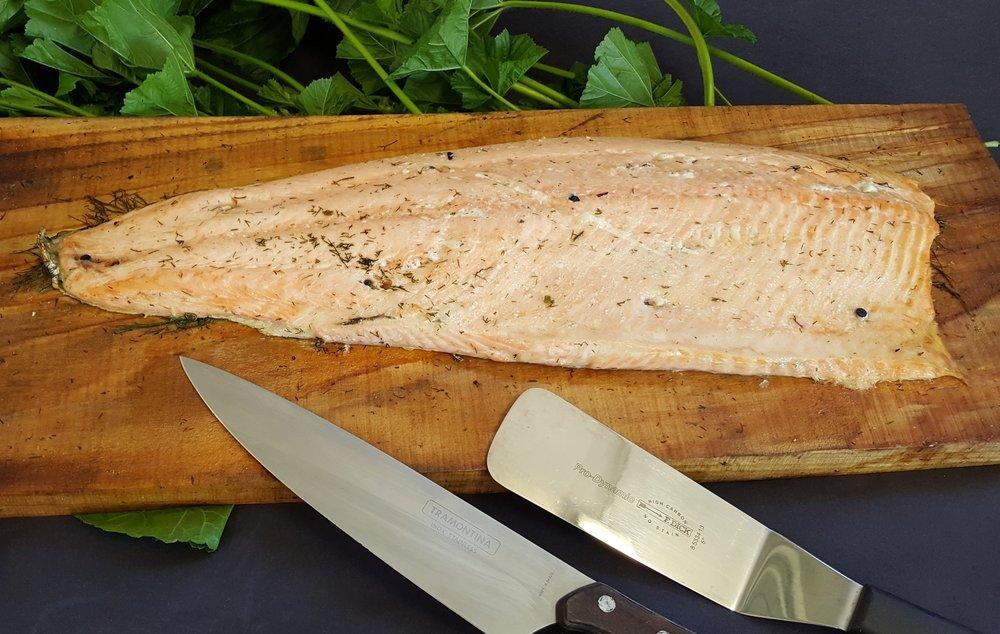 Scottish salmon on cedar plank by Fabulous BBQ