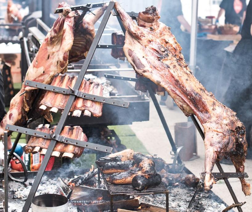 Asado lamb and beef