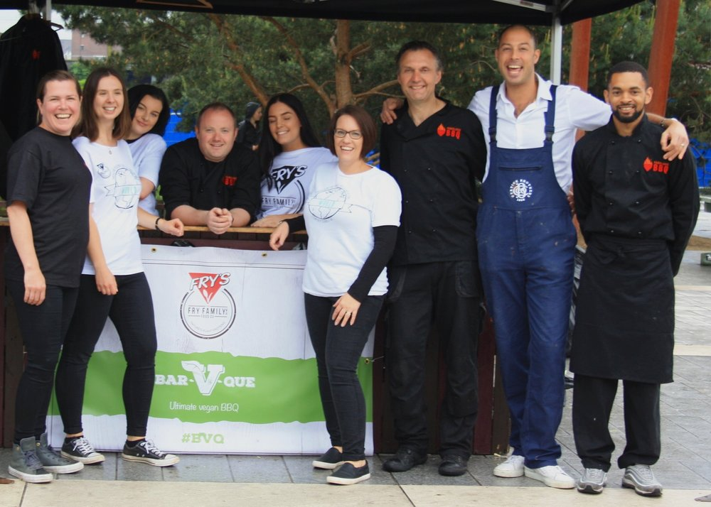 The Winning Team - Fabulous BBQ helped Fry's Family Foods serve 1000 vegan burgers and sausages