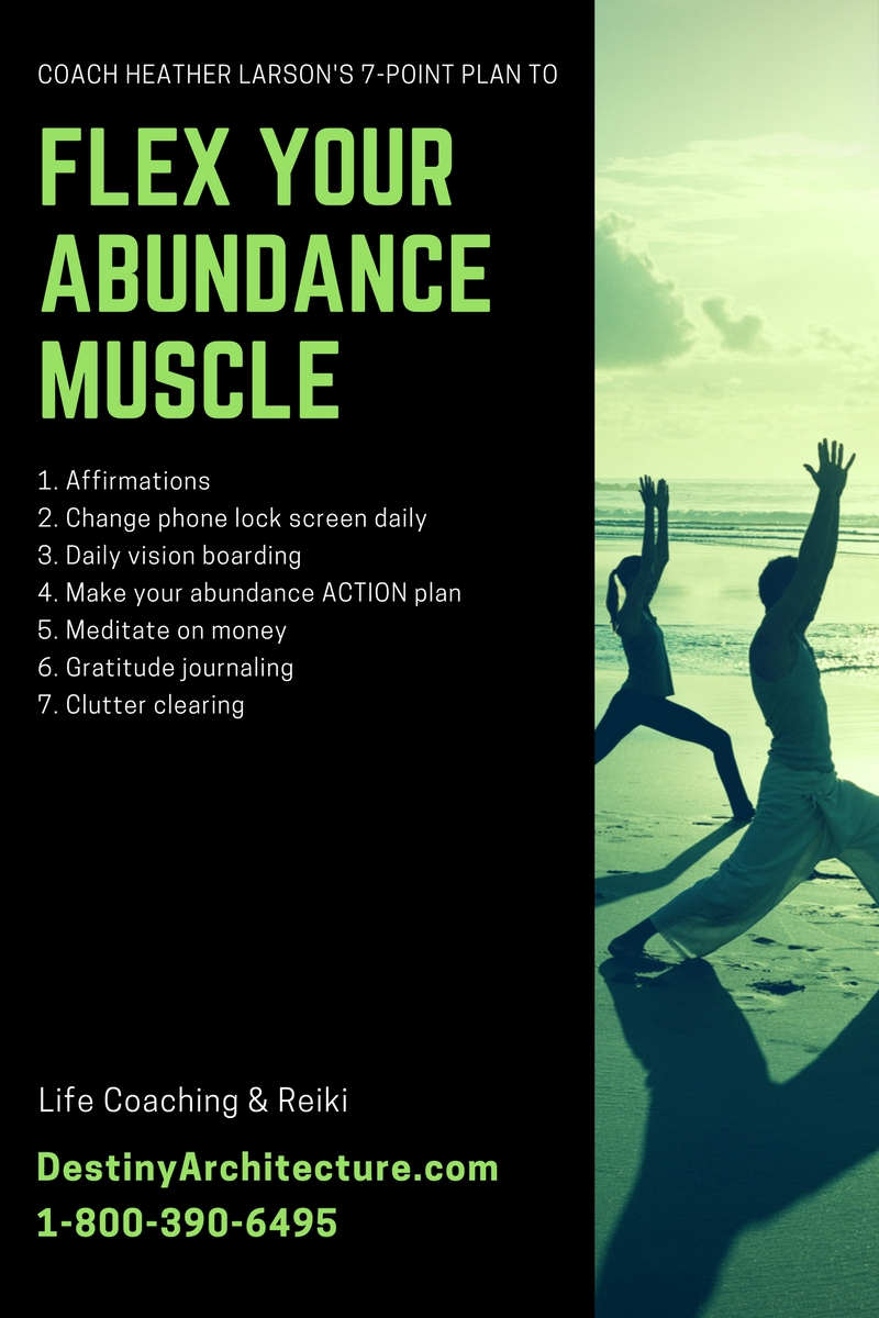 If you are doing the Flex Your Abundance Muscle Challenge, share it on social media with the hashtag, #FYAM!
