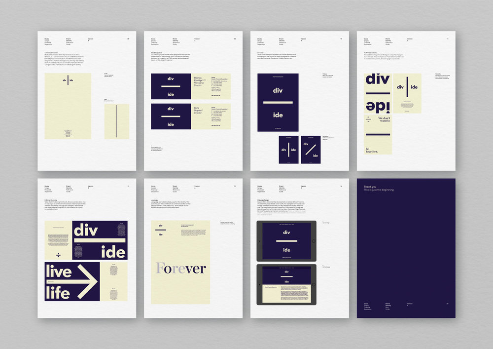 Divide –   Naming and full brand identity platform and system developed for Divide