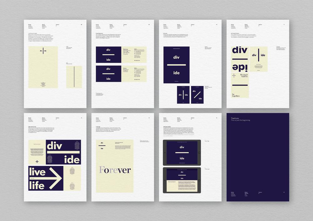 Divide –   Naming and full brand identity platform and system developed for Divide