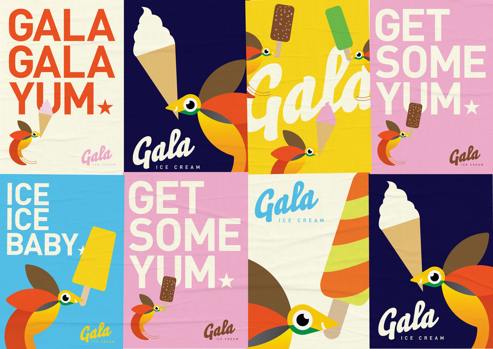 Gala Ice Cream –  Brand refresh to reposition and modernise Papua New Guinea's most popular Ice Cream brand.